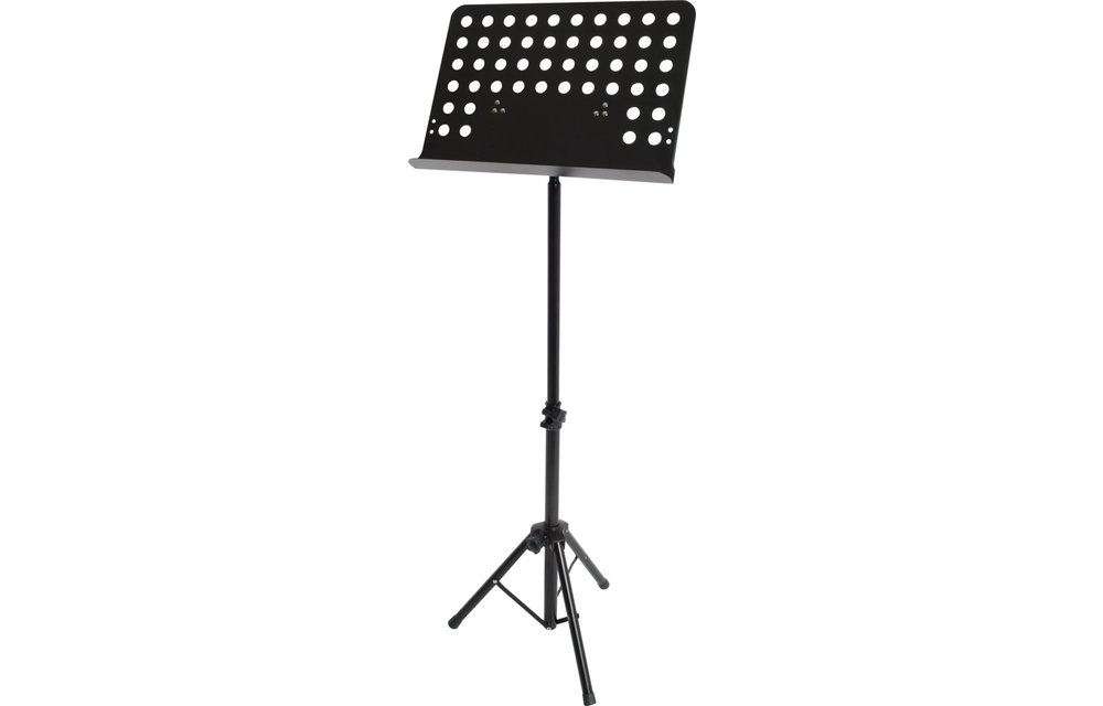 Xtreme Orchestral Heavy Duty Music Stand, Perforated Steel Music Desk, Black