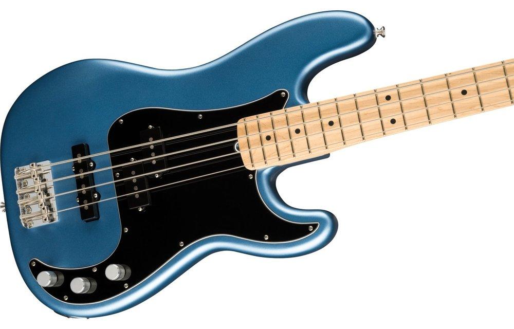 Fender American Performer Precision Bass, Maple Fingerboard, Satin Lake Placid Blue