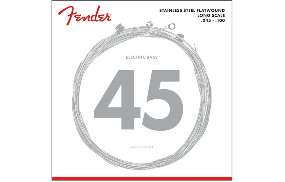 Fender Stainless 9050's Bass Strings, Stainless Steel Flatwound, 45-100 Gauge
