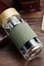 Golden Poppy Herbs Glass & Bamboo Tea Tumbler