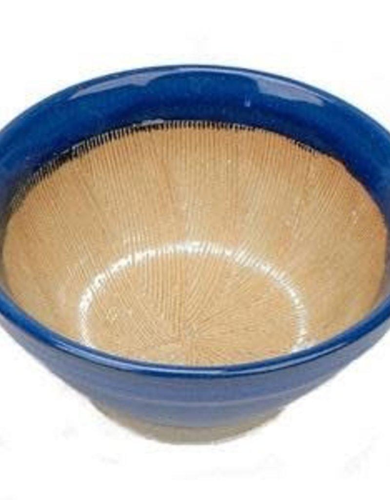 """Golden Poppy Herbs DISCO Suribachi Mortar Bowl, 6"""" diameter"""