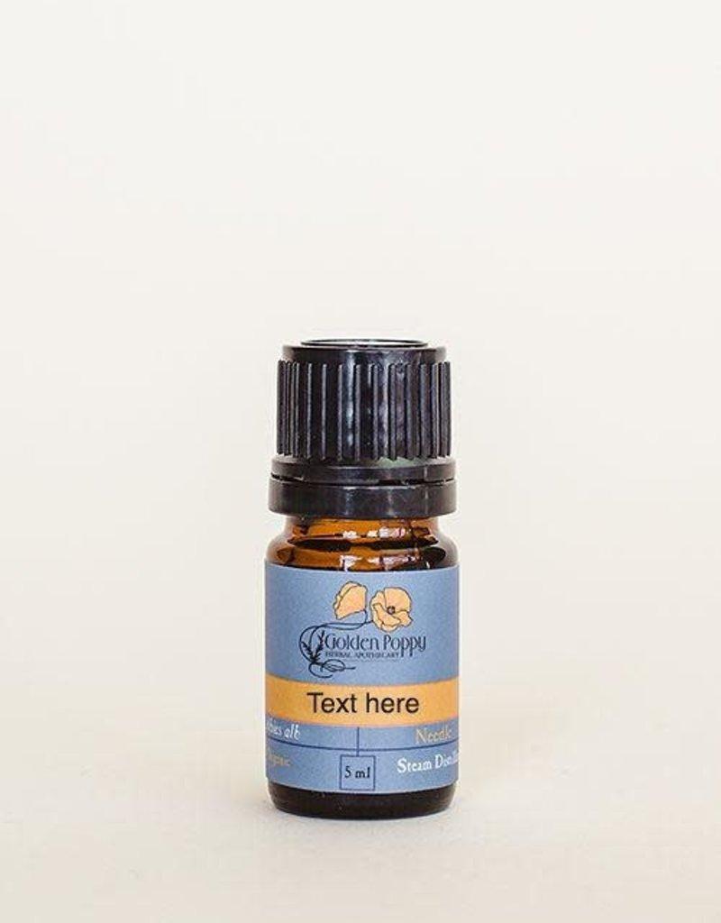 Golden Poppy Herbs Fir, SIlver Essential Oil, Organic, 5mL