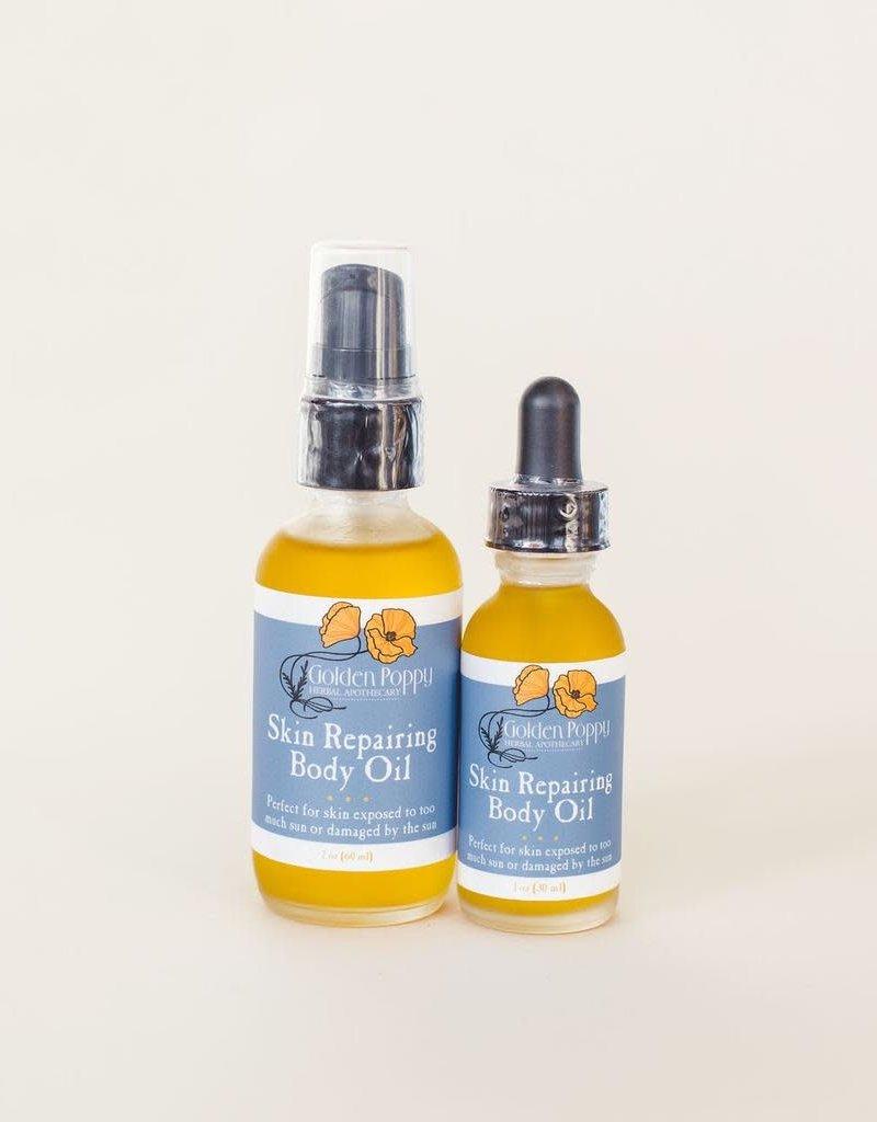 Golden Poppy Herbs Skin Repairing Body Oil, 1oz