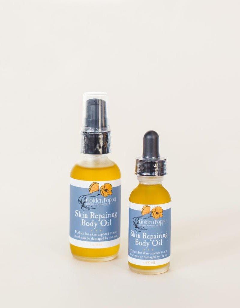Golden Poppy Herbs Skin Repairing Body Oil, 2oz
