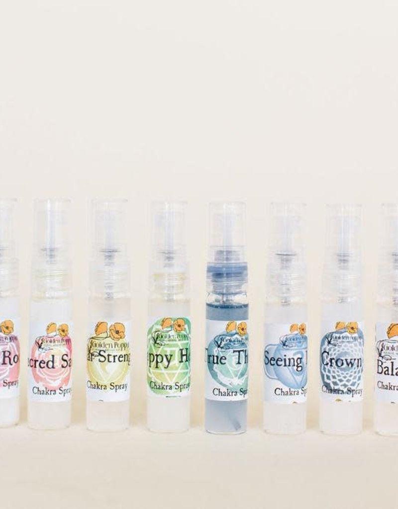 Golden Poppy Herbs Mini Chakra Spray Set, Sample Size