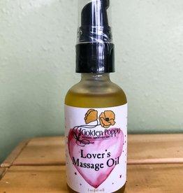 Golden Poppy Herbs Lover's Massage Oil, 2 oz