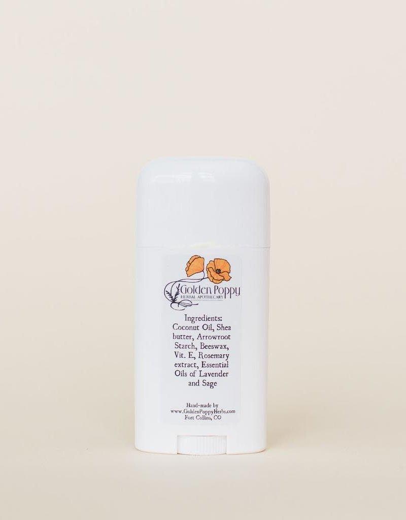 Golden Poppy Herbs Baking soda free- Lavender & Sage Deodorant LARGE
