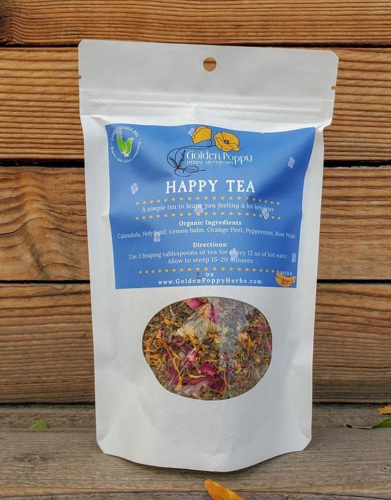 Golden Poppy Herbs Happy Tea Bag, 2oz