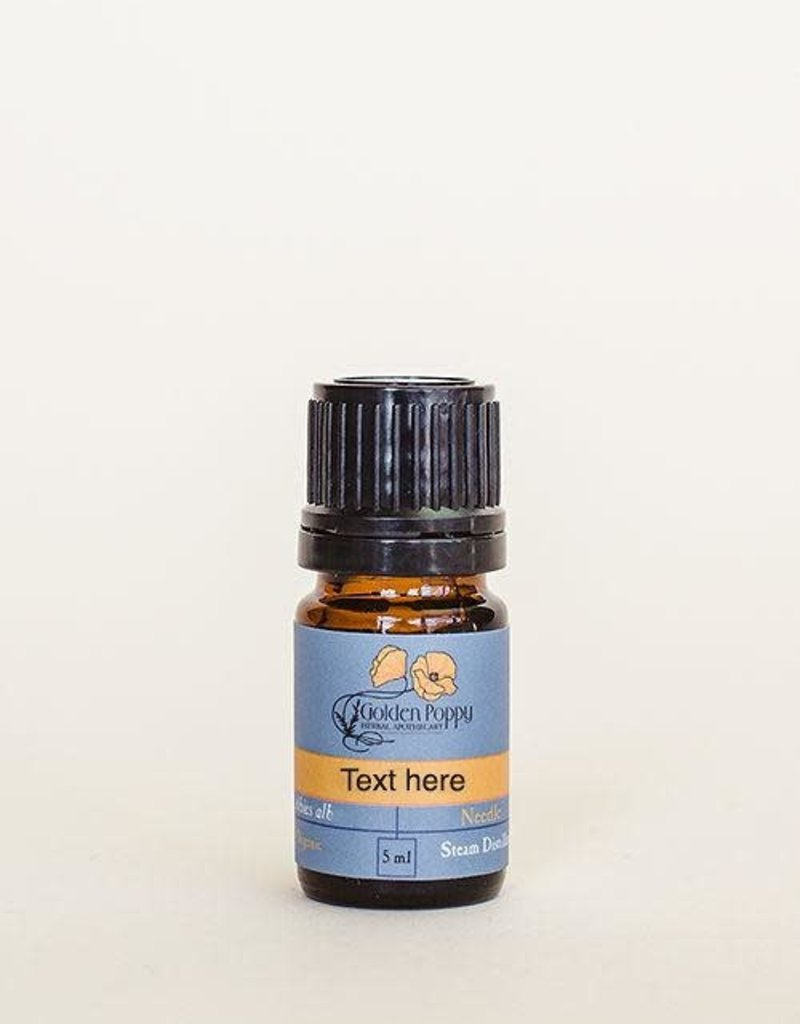 Golden Poppy Herbs Lemon Essential Oil, Organic, 5mL