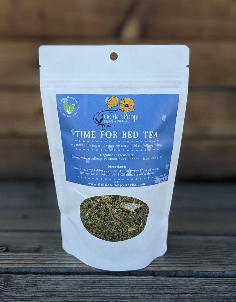 Golden Poppy Herbs Time for Bed Tea Bag, 2.5oz