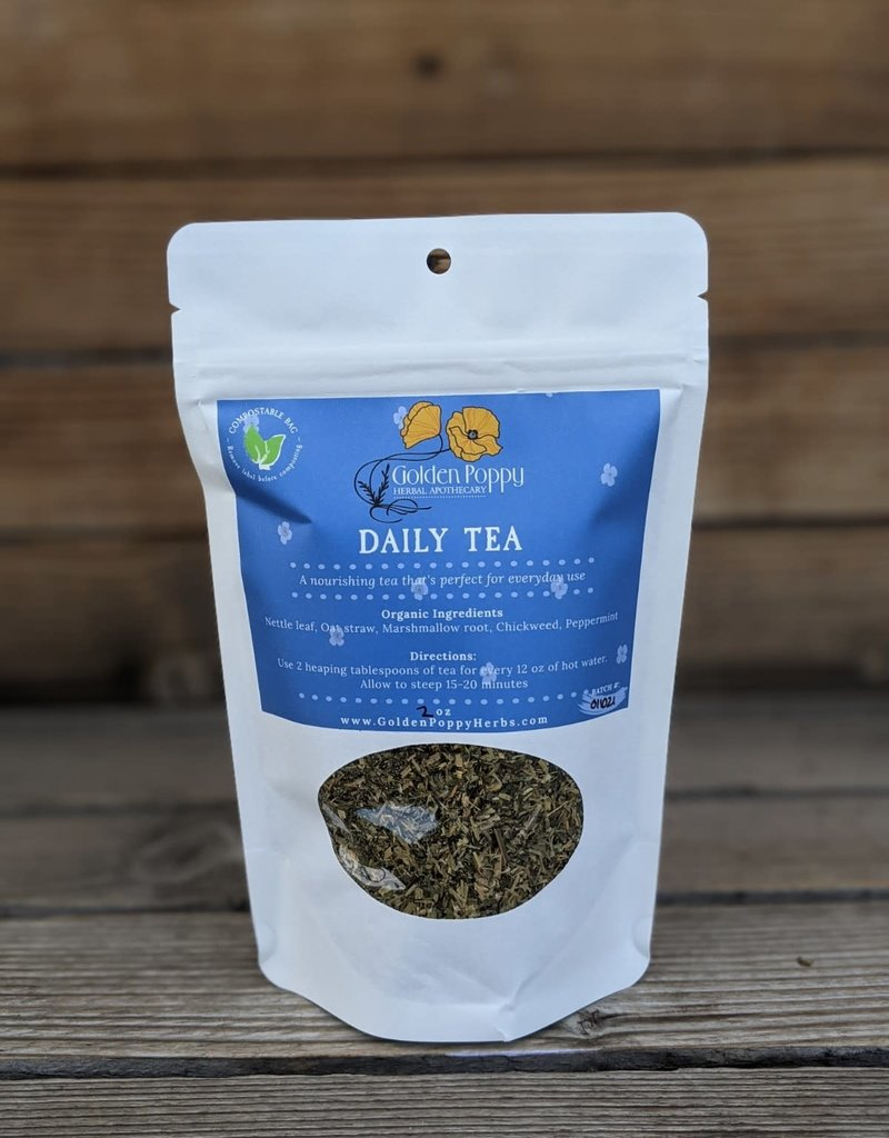 Golden Poppy Herbs Daily Tea Bag, 2oz