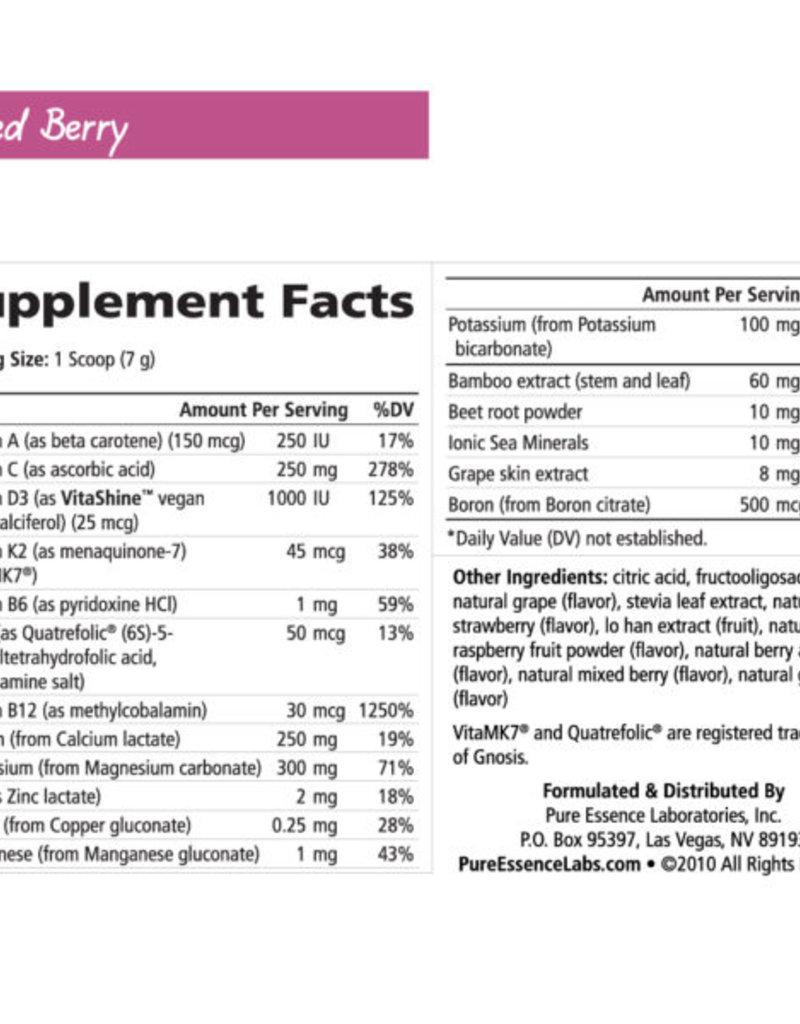 Golden Poppy Herbs Ionic Fizz Super D-K Calcium Plus, Berry, 210gm, Pure Essence Labs