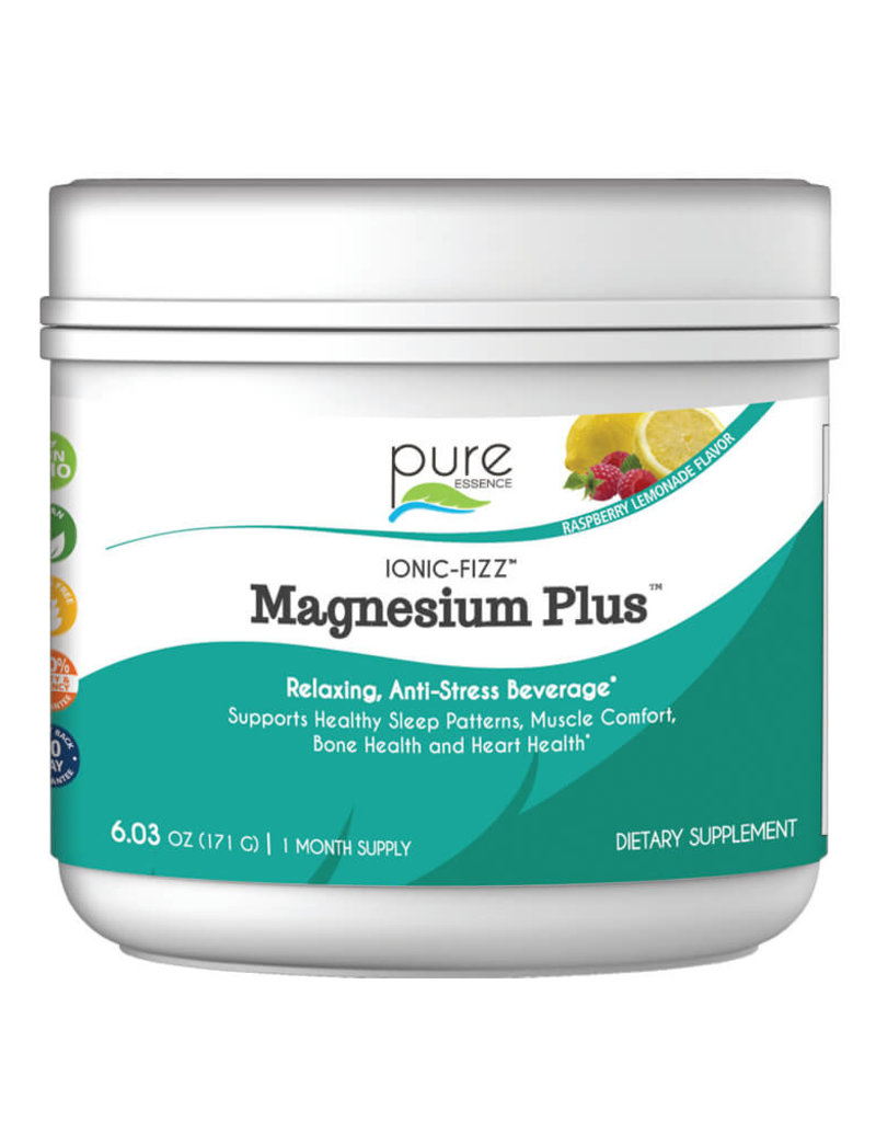 Golden Poppy Herbs Ionic Fizz Magnesium Plus, Small Raz-Lemonade - Pure Essence