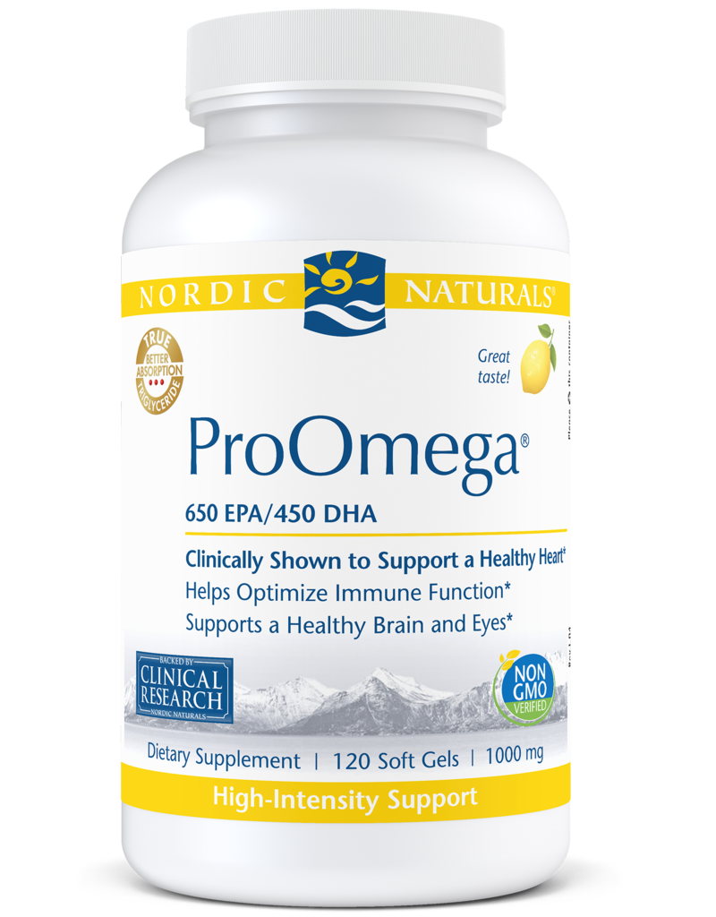 Golden Poppy Herbs Nordic Naturals ProOmega Lemon, 120 gels