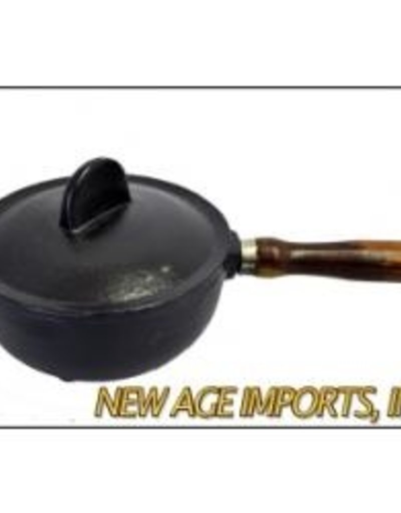 Golden Poppy Herbs Cast Iron Cauldron w/ wood handle