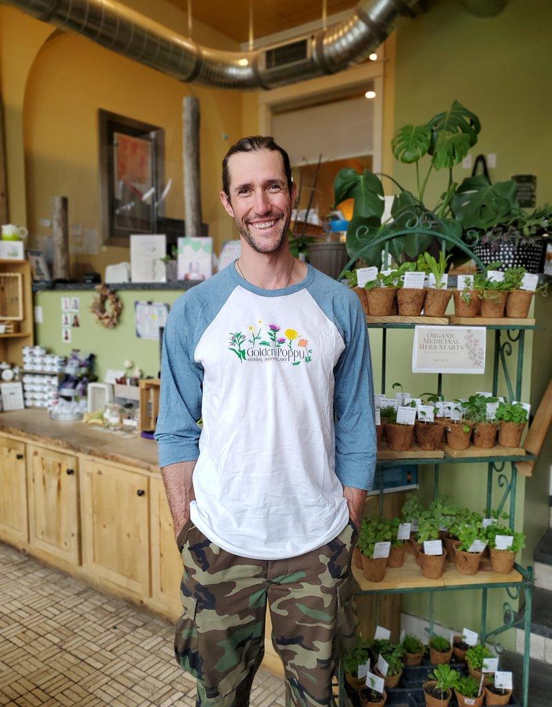 Golden Poppy Herbs Medicinal Flowers Baseball Shirt