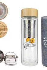 Golden Poppy Glass Tea Tumbler