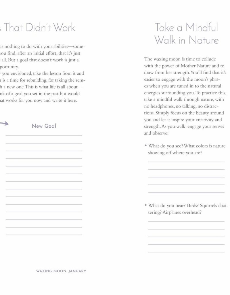 Moon Spells Journal: Guided Rituals, Reflections, & Meditations by Diana Ahlquist