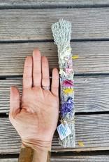 Floral Smudge Stick, organic, Wildcat LARGE