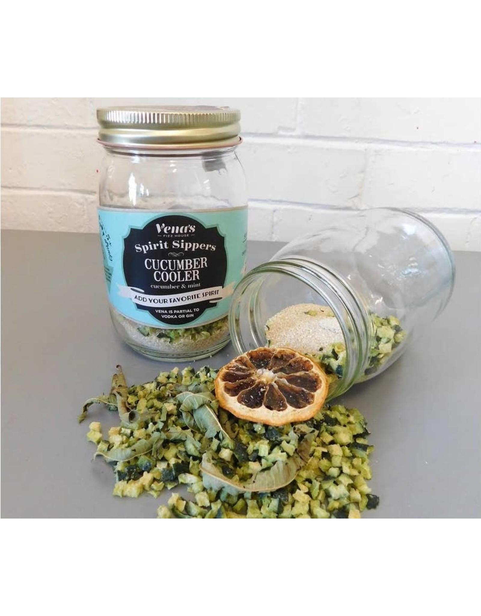 Vena's Fizz House Vena's Fizz House Spirit Sipper Cucumber Cooler Infusion Jar