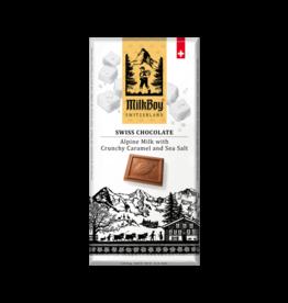 Milk Boy MilkBoy Alpine Milk Chocolate with Crunchy Caramel & Sea Salt, 1.4oz