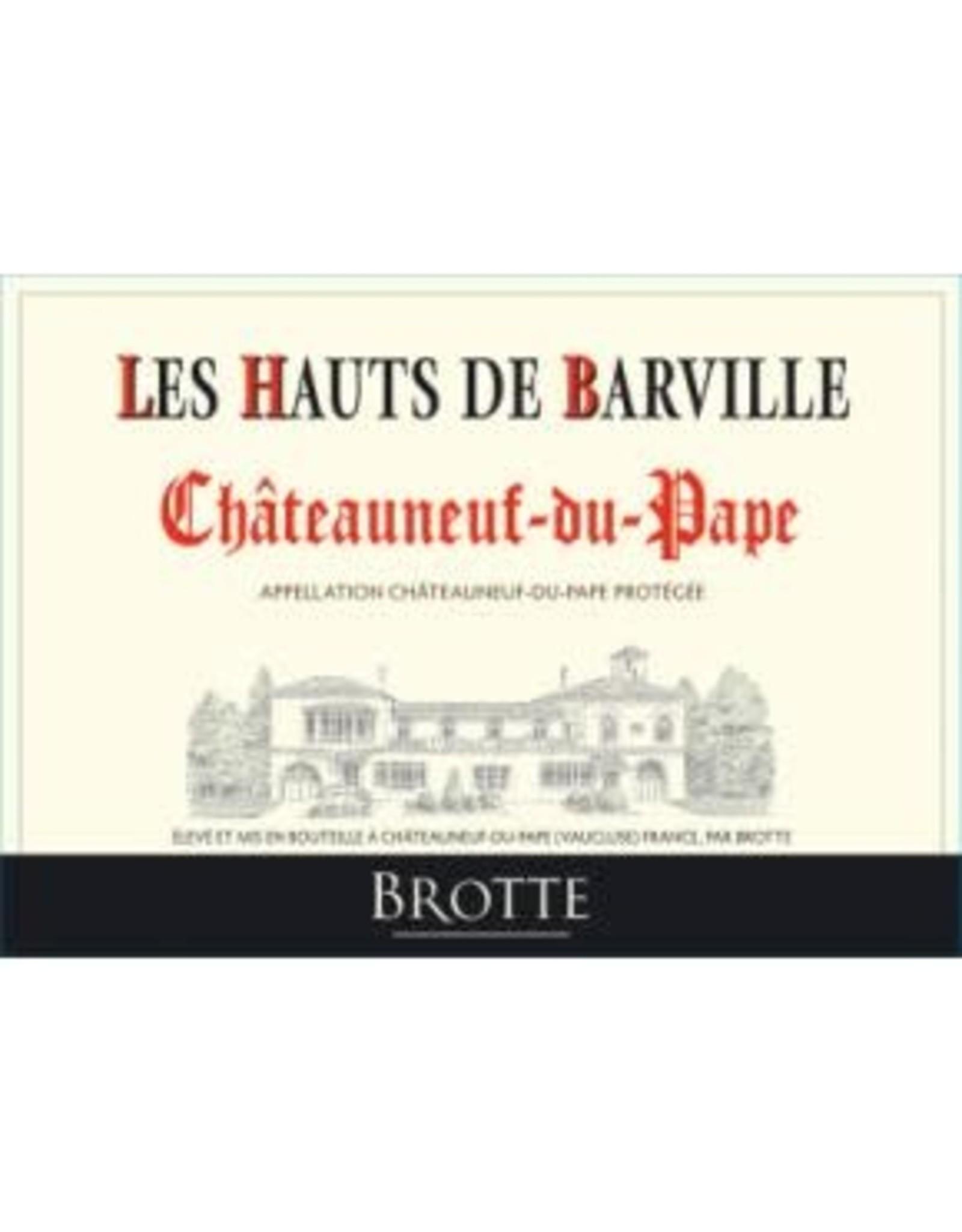 Brotte Brotte Les Hauts de Barville Chateauneuf-du-Pape Rouge