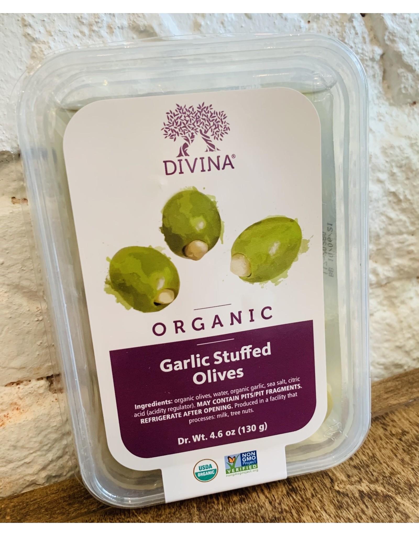 Divina Divina Garlic Stuffed Organic Olives