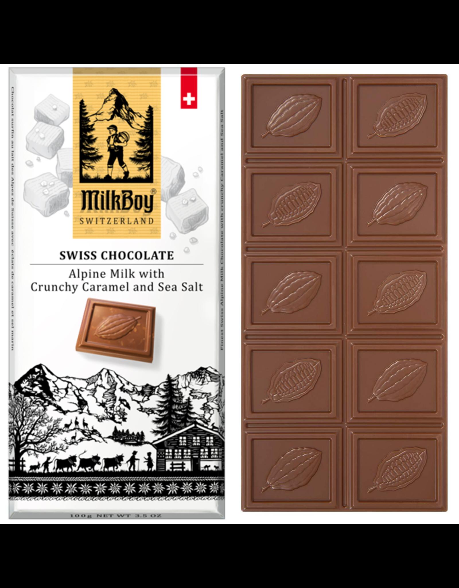 Milk Boy MilkBoy Alpine Milk with Crunchy and Sea Salt Chocolate, 3.5oz