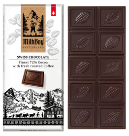 Milk Boy MilkBoy Finest 72% Cocoa with Fresh Roasted Coffee, 3.5oz