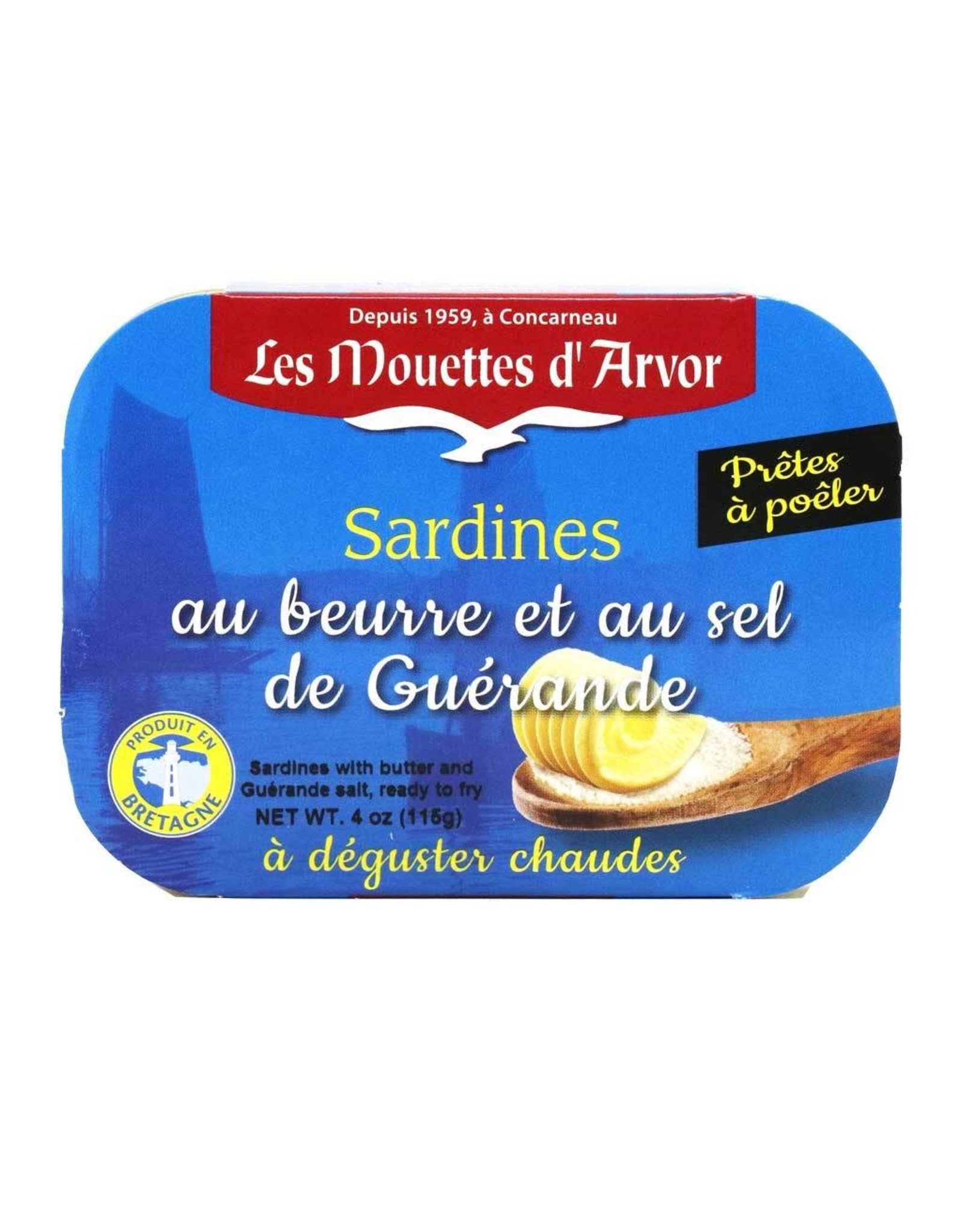 Mouettes d'arvor Mouettes d'Arvor Sardines with Butter and Sea Salt