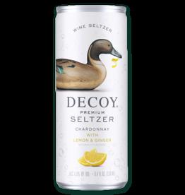Decoy Decoy Premium Seltzer, Chardonnay with Lemon & Ginger