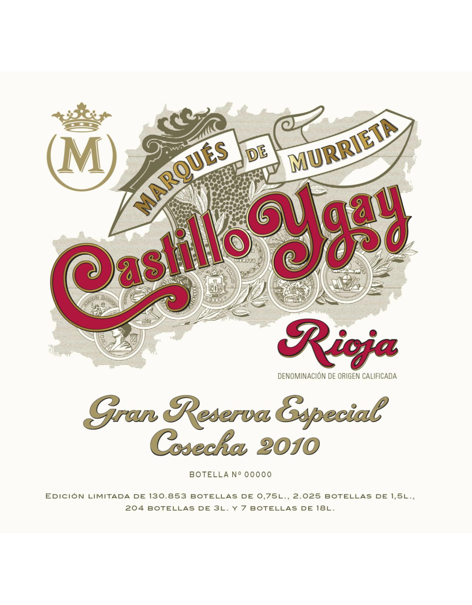 Marqués de Murrieta Marqués de Murrieta Castillo Ygay Rioja Grand Reserva Especial 2010