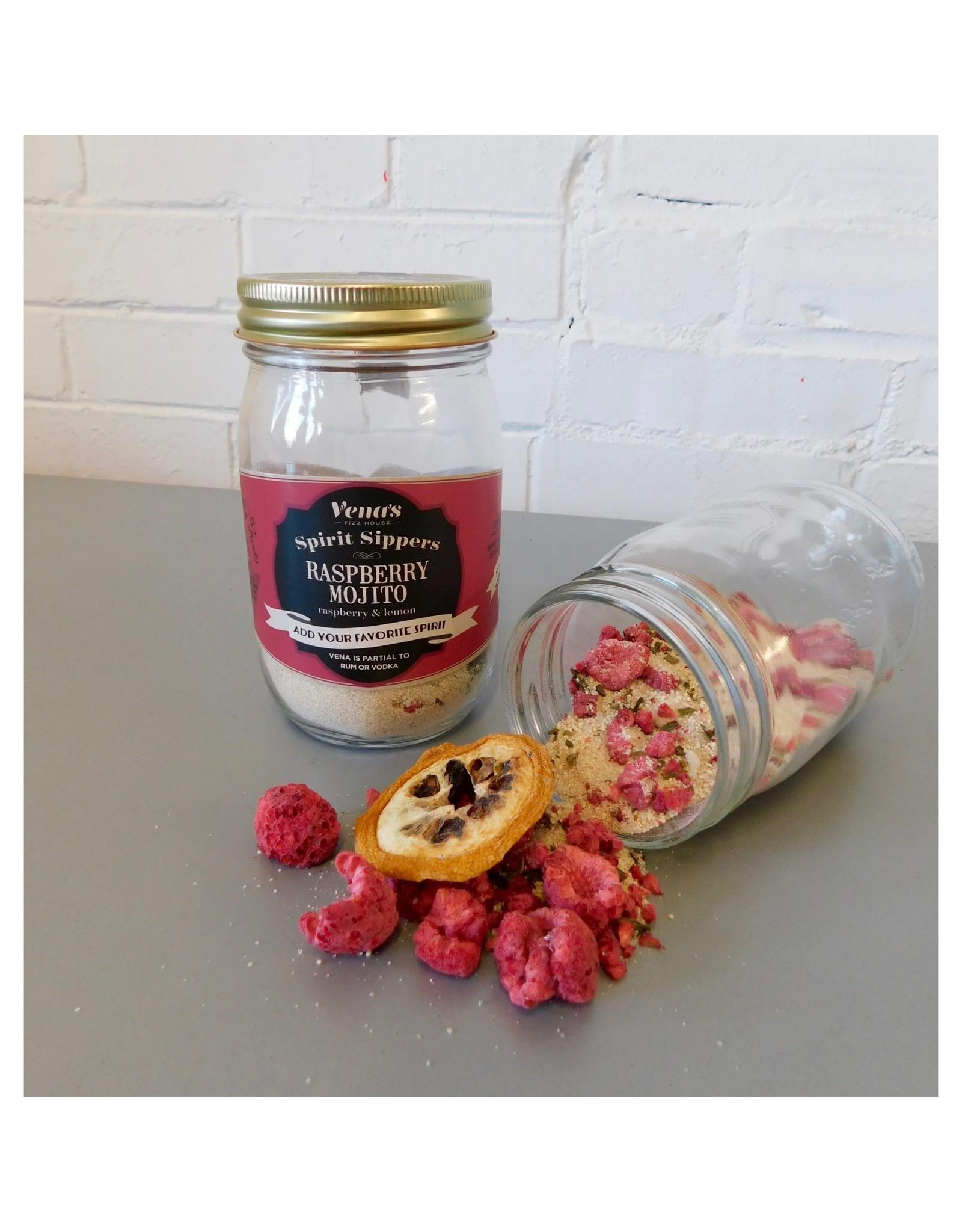 Vena's Fizz House Vena's Fizz House Spirit Sipper Raspberry Mojito Infusion Jar