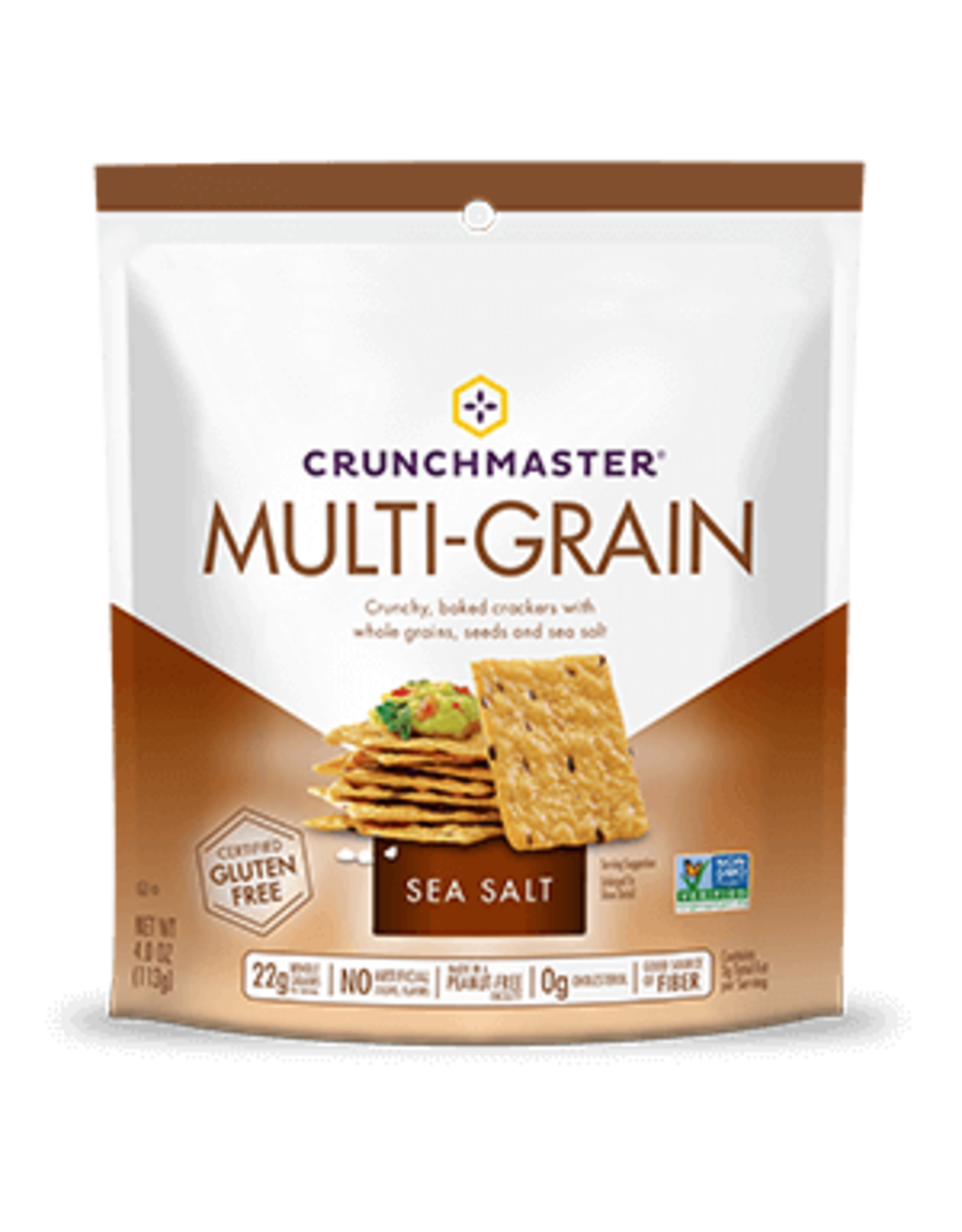 Crunchmaster Crunchmaster Multi-Grain & Sea Salt Gluten Free Crackers