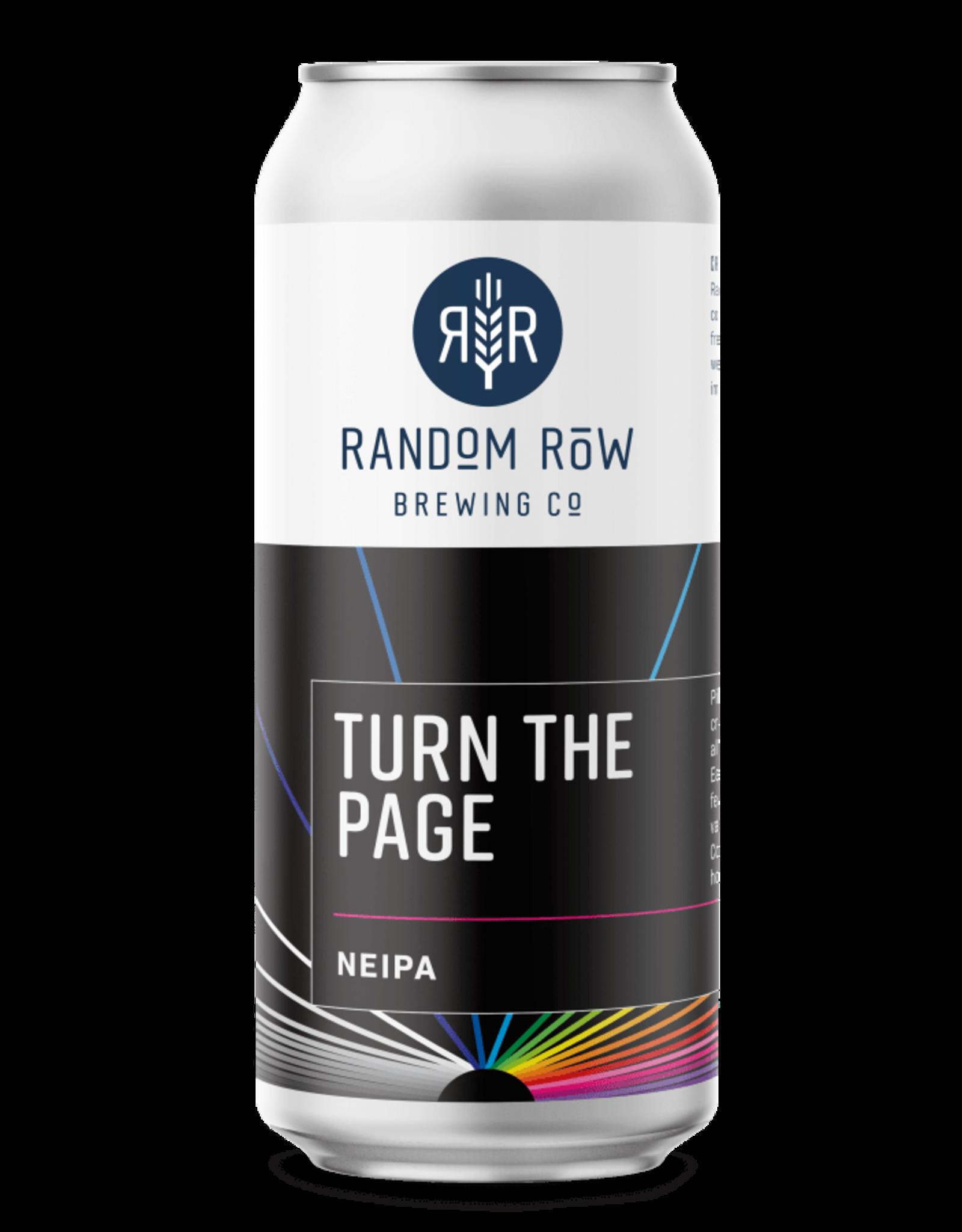 Random Row Random Row, Turn The Page, NEIPA