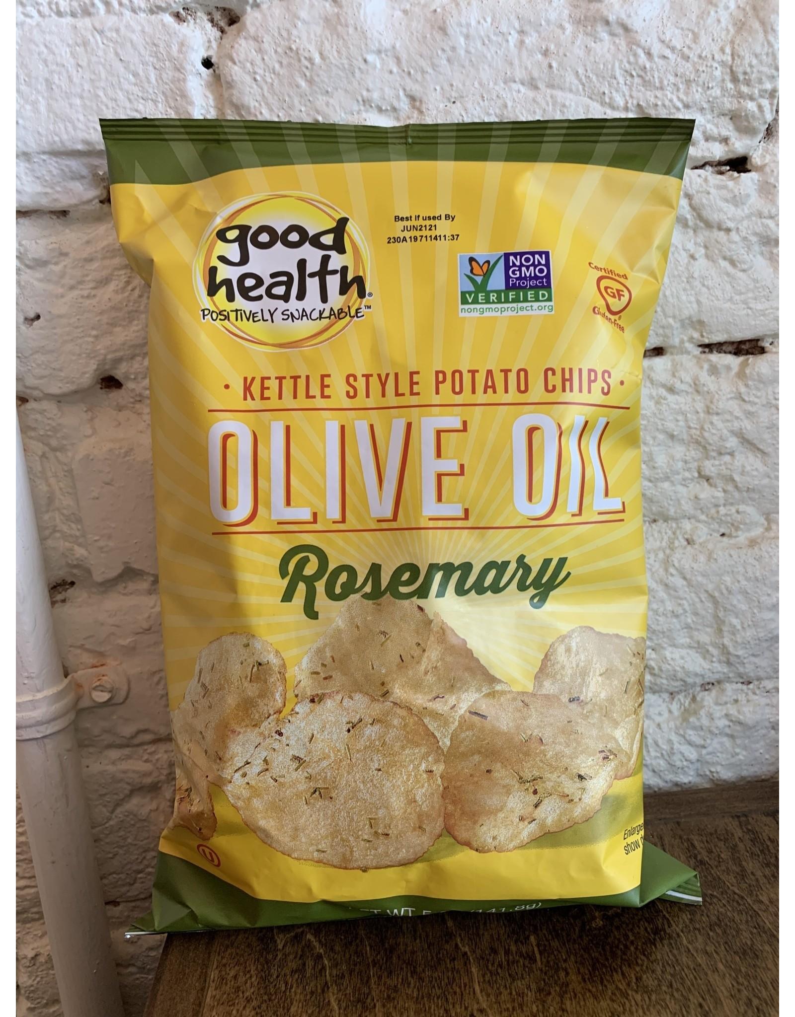 Good Health Good Health Potato Chips, Olive Oil & Rosemary 5oz. Bag