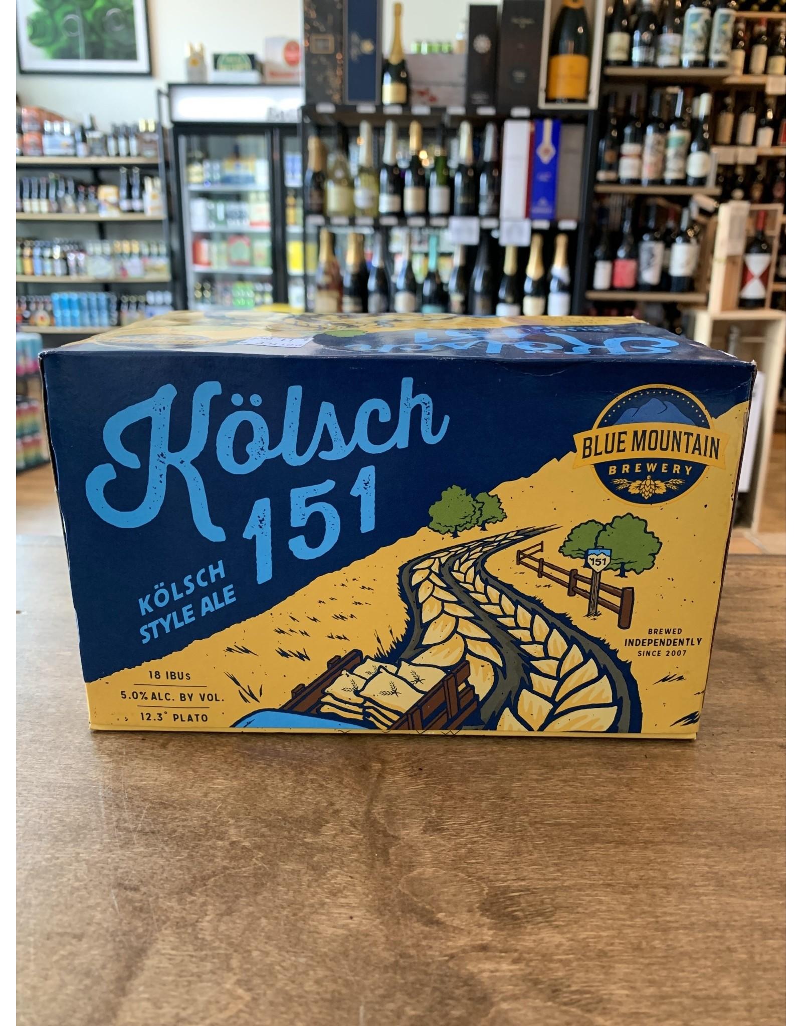 Blue Mountain Blue Mountain 151 Kolsch, Cans