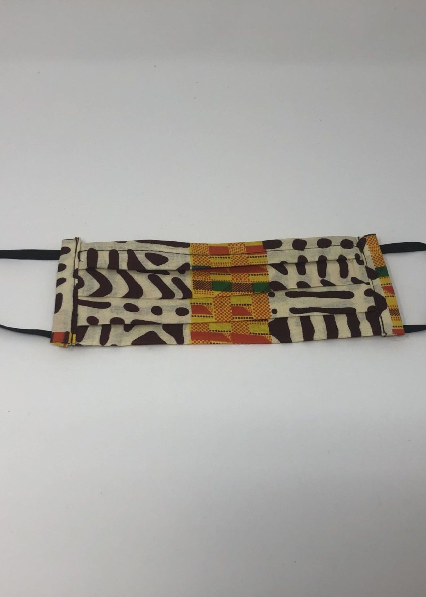 SKC AFRICAN PRINT REUSABLE CLOTH MASK (KENTE PRINT)