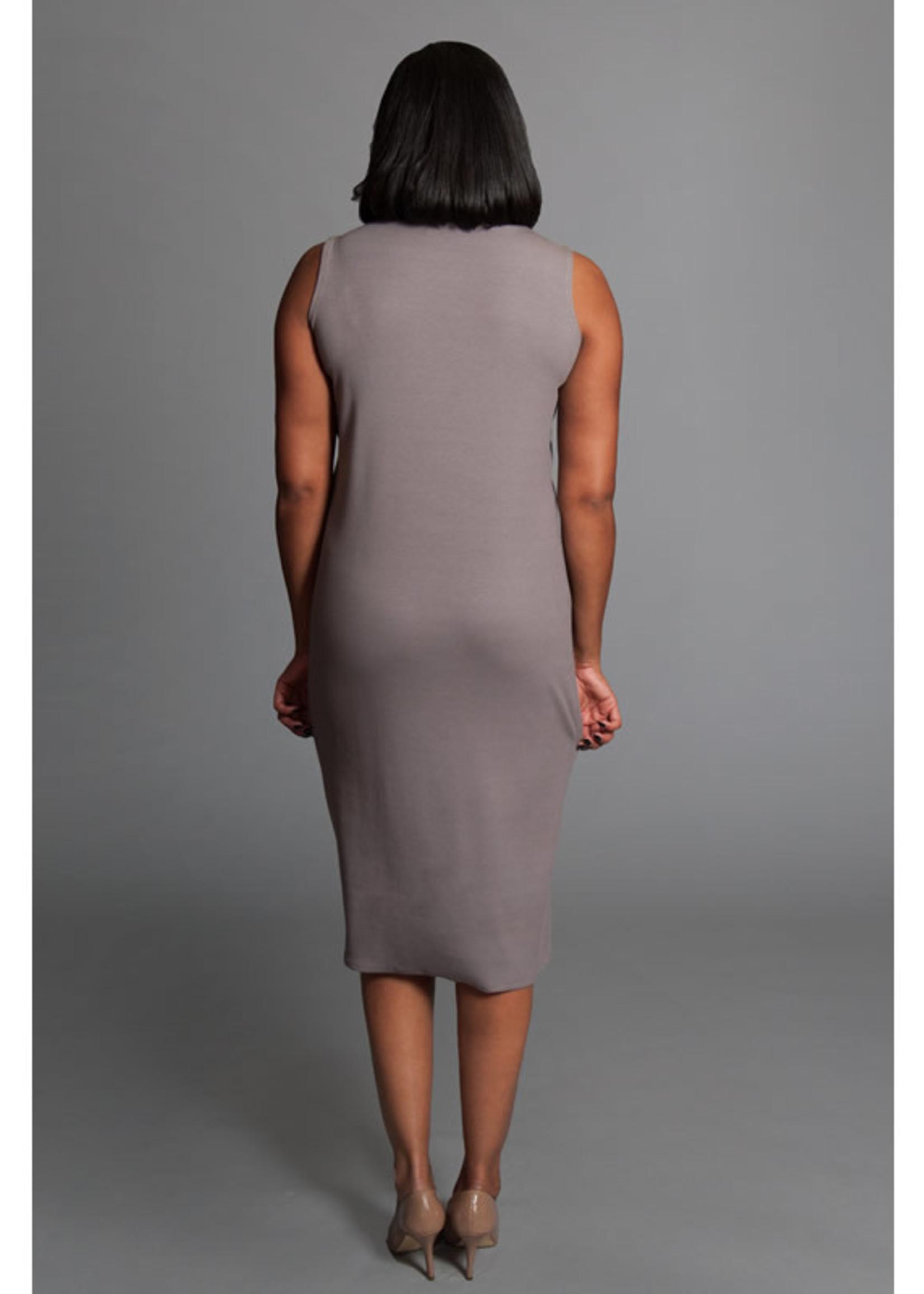 SARAH KUENYEFU TANK DRESS- SLEEVELESS/RIBBED BAMBOO
