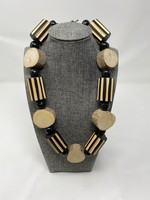 IMVELO ORGANIC CHUNKY WOOD NECKLACE