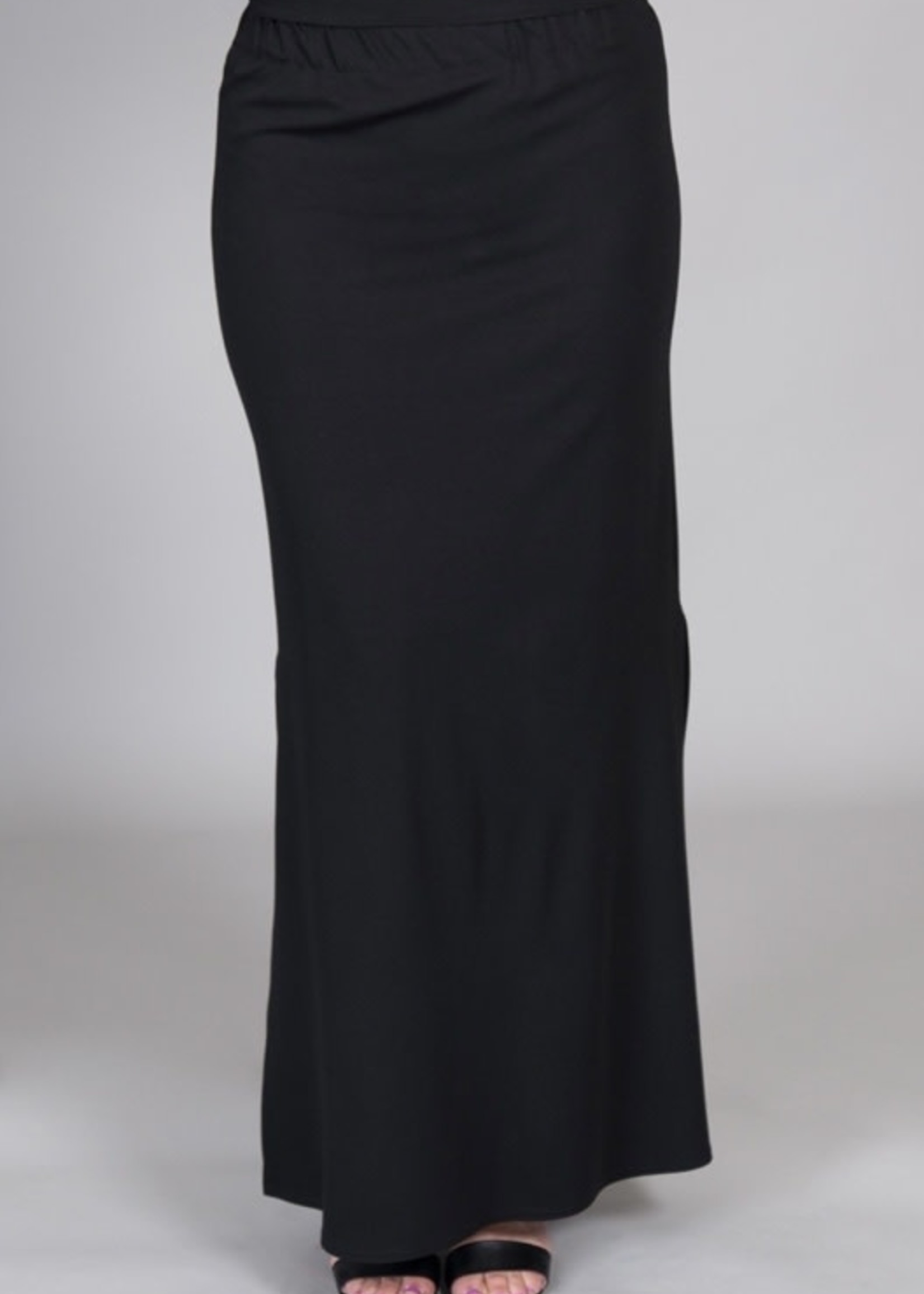 SARAH KUENYEFU LONG PONTE SKIRT