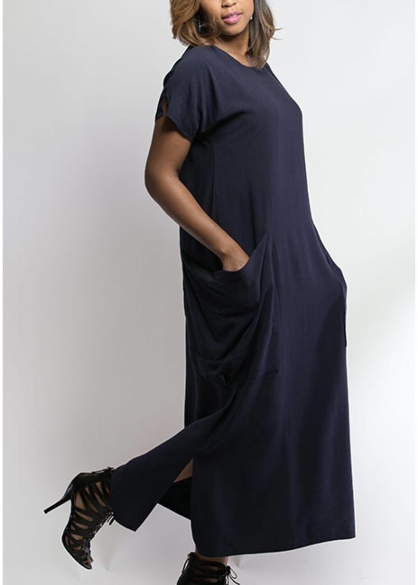 SARAH KUENYEFU LONG POCKET DRESS