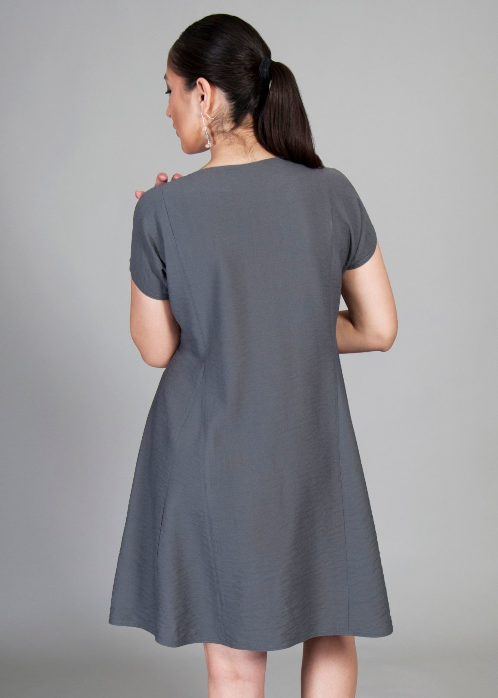 SARAH KUENYEFU CAP SLEEVE INSERT DRESS