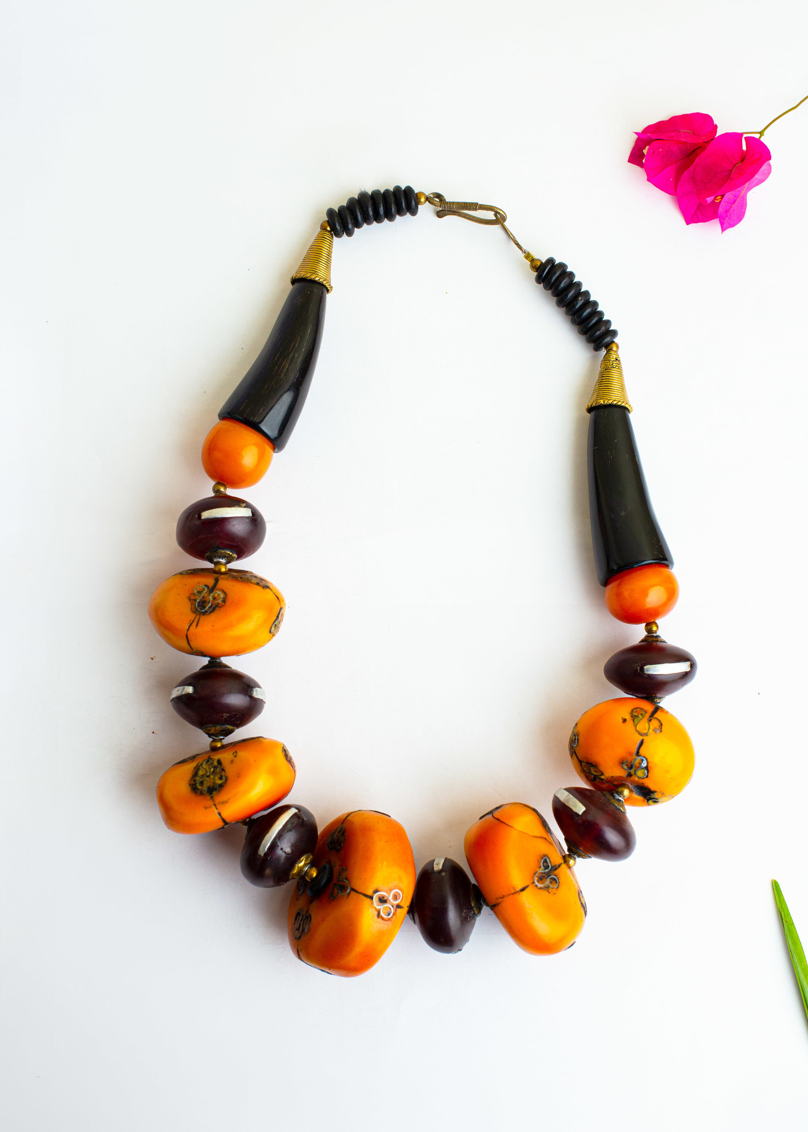 GHANA LARGE AMBER STATEMENT NECKLACE