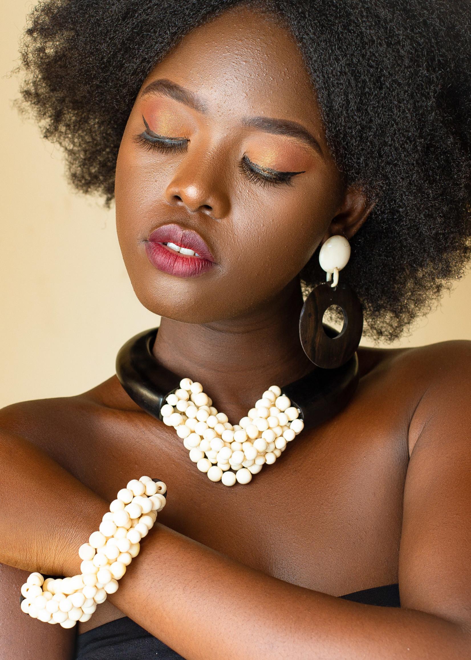 GHANA BONE AND EBONY NECKLACE