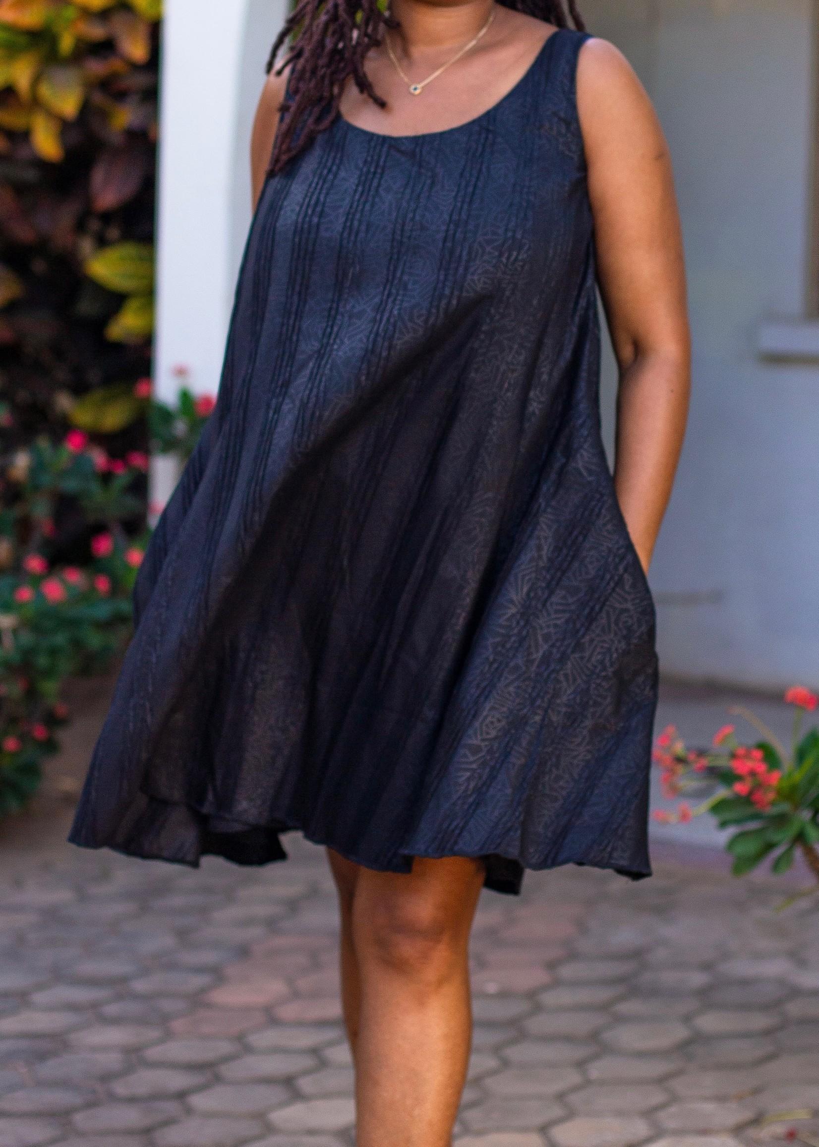 SARAH KUENYEFU SLEEVELESS  FLARE DRESS