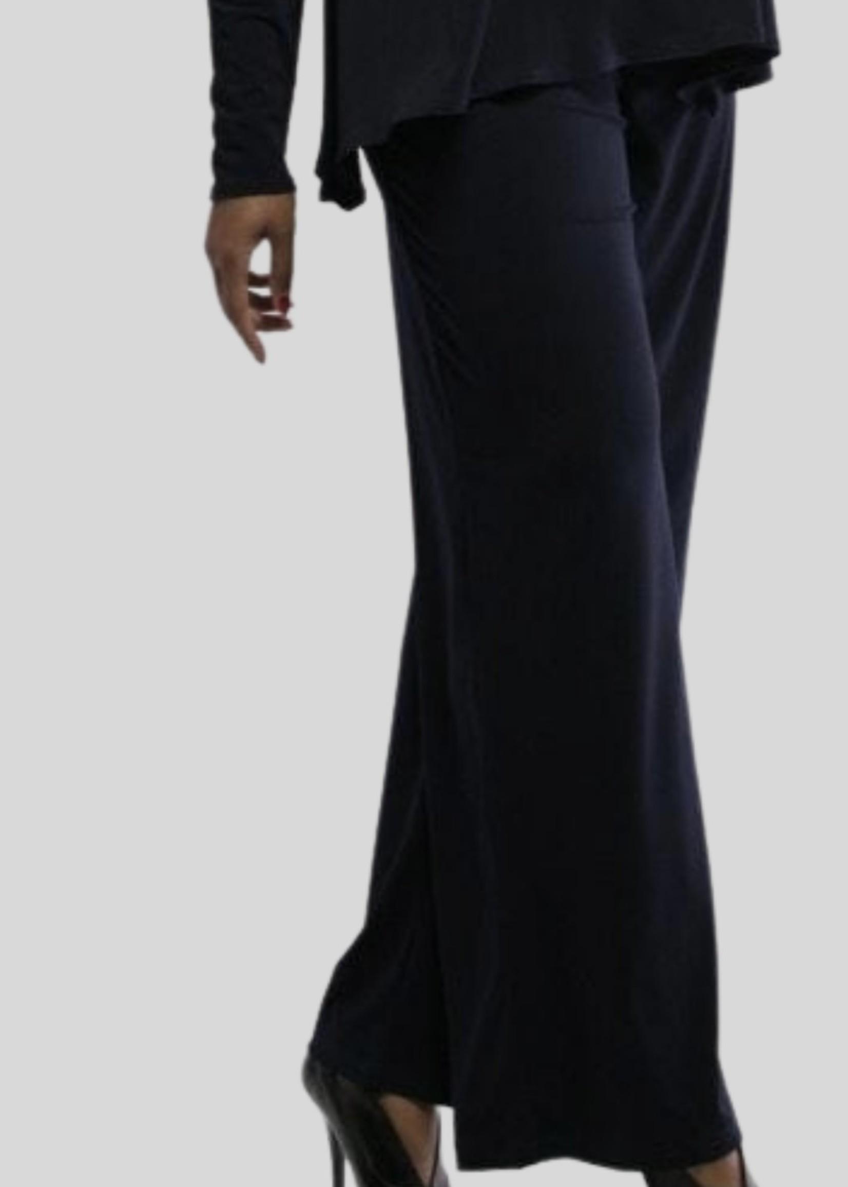 SARAH KUENYEFU WIDE LEG COUTURE JERSEY PANTS