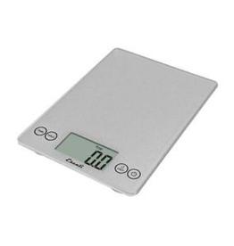 ESCALI 157-SS ESCALI Arti, Digital Glass Scale, 15lb / 7 Kg, Shiny Silver