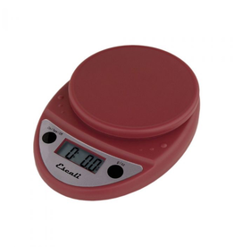 ESCALI P115WR ESCALI Primo Digital Scale 11 Lb / 5 Kg, Warm Red