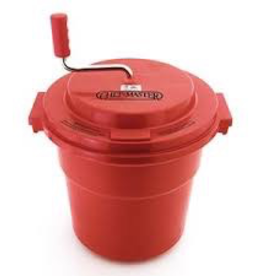 Chef Master 90005 Chef Master 5 gal Commercial Salad spinner  Dryer- with a brake to extend the life of the gears